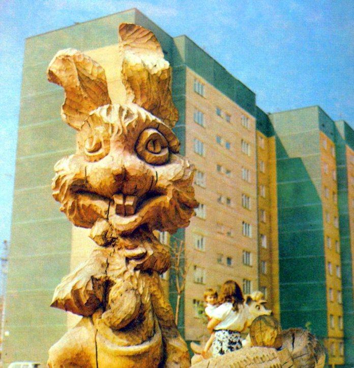 Будується Сихів. Фото 1980-их років
