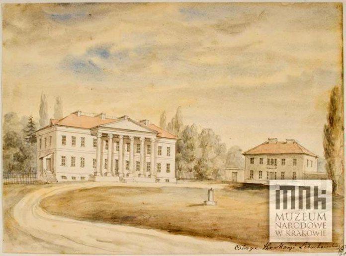 Палац в Острожці на малюнку Наполеона Орди