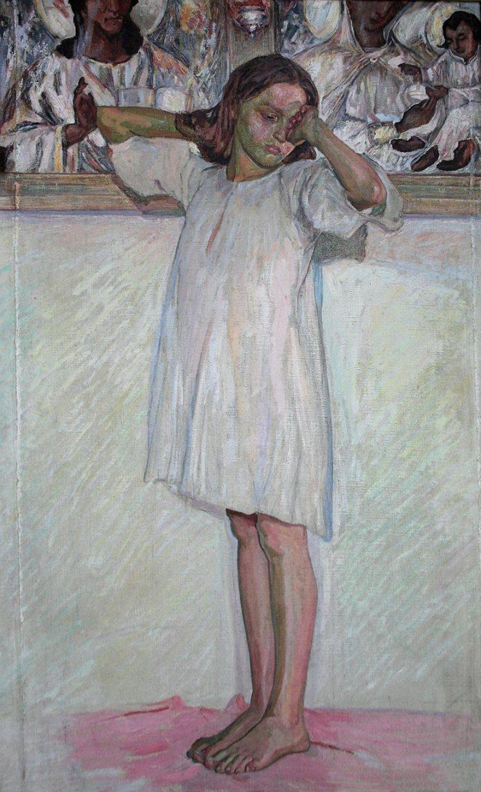 Новаківський О. Пробудження на тлі образів. Полотно, олія. Поч. 1910-х рр.