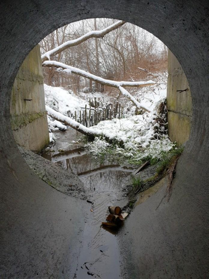 Поки ми були під землею то нагорі встигло снігу трохи нападати