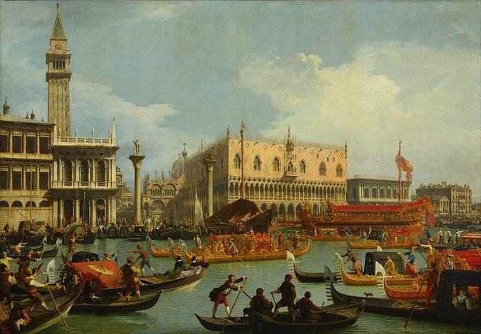 Венеція на картині Джованні Антоніо Каналь, XVIII ст. Зображення з Вікіпедії