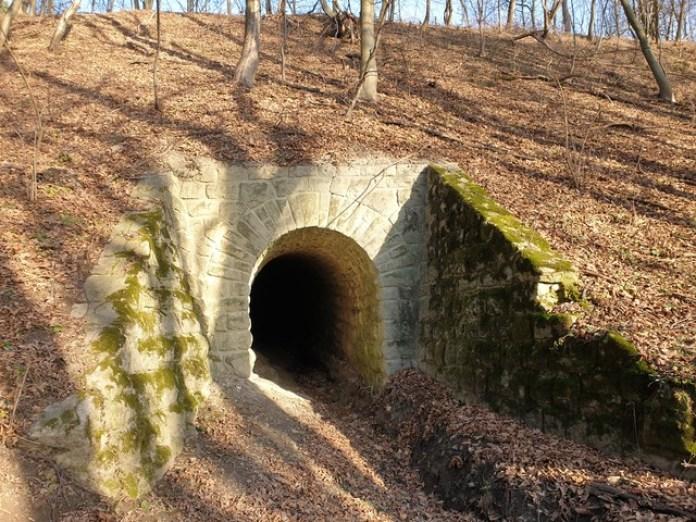 Вхід у тунель зі сторони Вульок, вид праворуч від автомобіля
