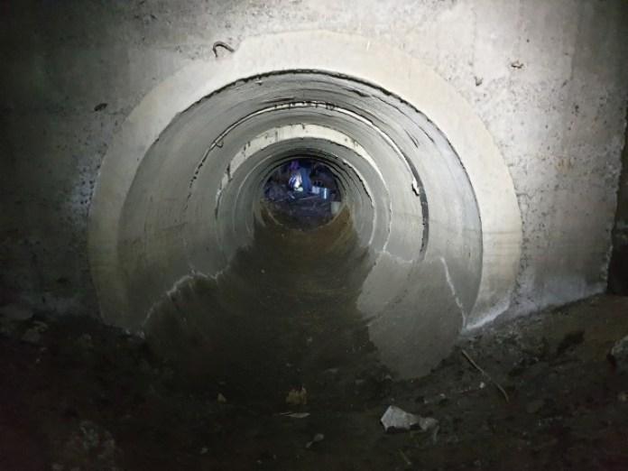 Цей же тунель після розчистки