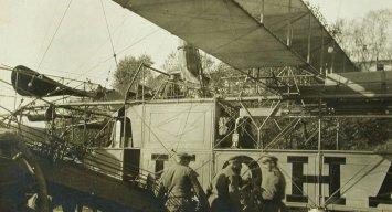 """Дирижабль """"Кондор"""", який запускали росіяни у Львові навесні 1915 року Фото: picryl.com"""