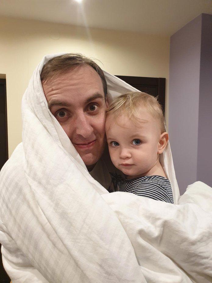 Олександр Божик з донькою Вікусею