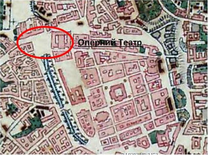 Карта Львова середини ХІХ століття