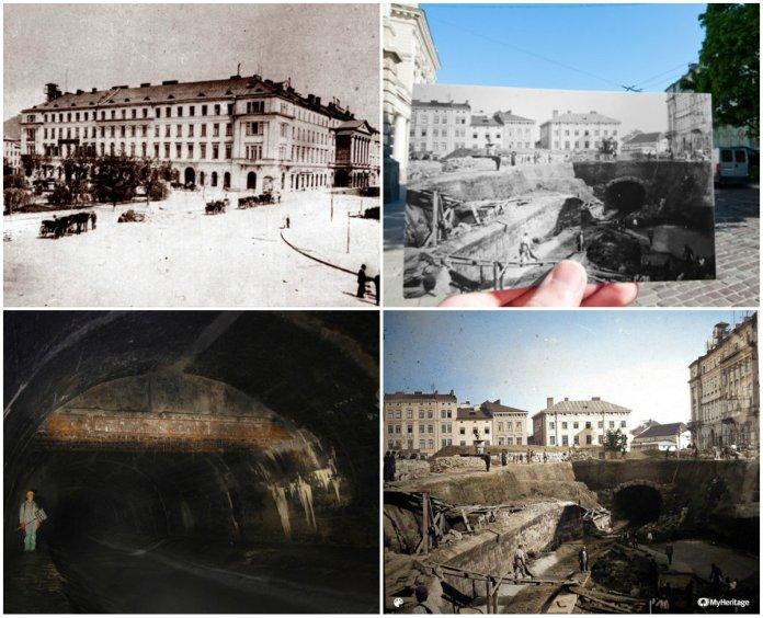 Де саме протікала Полтва до побудови Оперного театру?