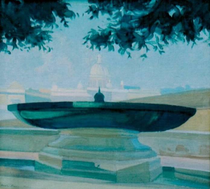 Василь Дядинюк. Вид з Монте-Пінчо. Рим, 1927