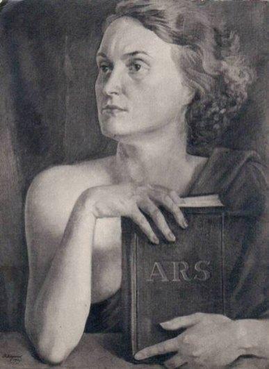 Василь Дядинюк. Муза мистецтва (портрет дружини Ольги Козакевич-Дядинюк), 1930-ті рр.
