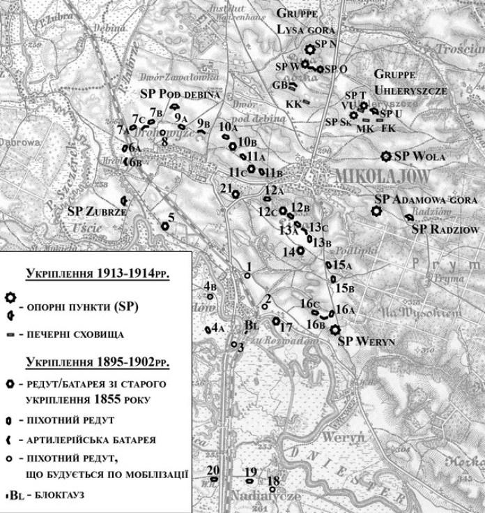 Карта укріплень 1913-14 років :)