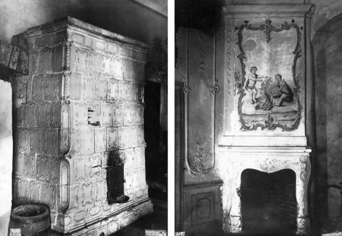 Фрагменти інтер'єру будинку Сосновських у Сосновиці