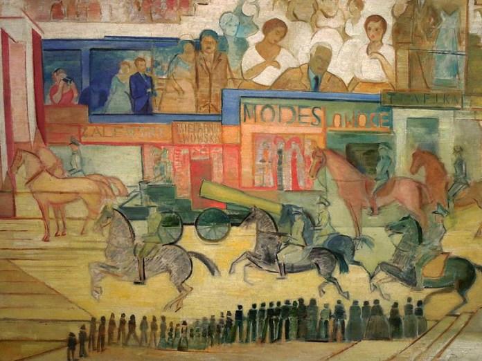 "картина Леона Хвістека ""Pochód/Defilada"", 1937 (фото: wikimedia.org)"