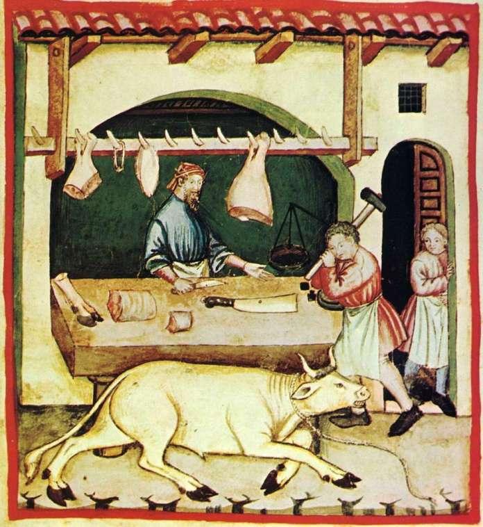 Робота у різницькому цеху, XIV століття, Tacuinum sanitatis