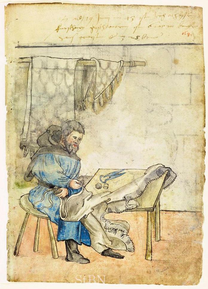 Кушнір, 1543 р. Джерело www.nuernberger-hausbuecher.de