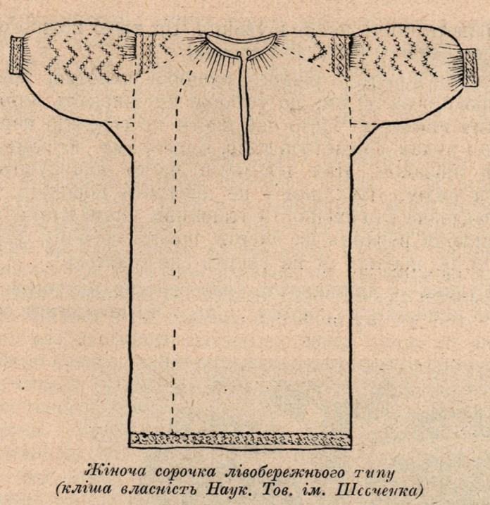 Жіноча сорочка лівобережного типу