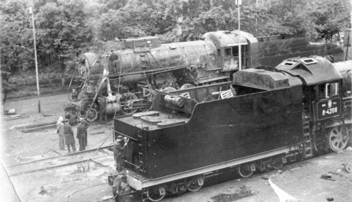 Паровози моделі Л на території ЛПВРЗ. 1960-ті рр..