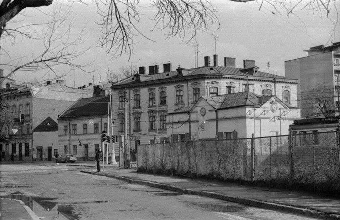 Службове трамвайне депо служби колії. Вигляд зі сторони вулиці Сахарова. 1980 р.