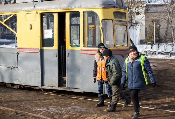 Службовий трамвай «Gotha T2-62» у трамвайному депо № 1. 2017 р.