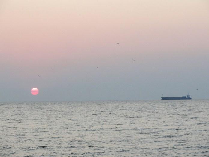 Схід сонця. Смт Затока Одеської обл. 2018 р. Світлина Андрія Сови.