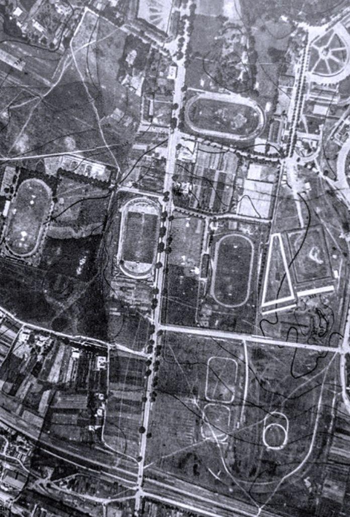 Стадіон «Сокола-Батька» на аерофотозйомці 1933 р.