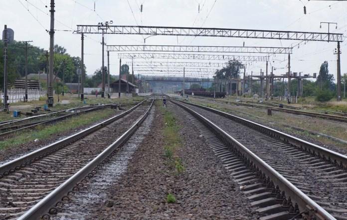 Станція Гнівань. Вигляд у напрямку Жмеринки, звідки 7 червня 1991 року примчало 42 некерованих вагони із вугіллям
