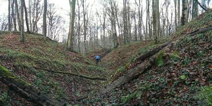 Місце падіння літака у Чорному лісі біля села Верин. Місце виявилось важкодоступним
