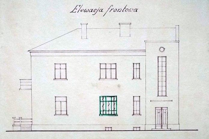 Проект будинку для  Ґжеґожа Подольського в Луцьку, 1938
