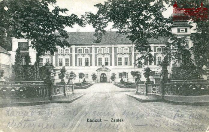Палац у Ланьцуті, де провів дитячі і юнацькі роки рівненський князевич Генрик. Фото 1915 року