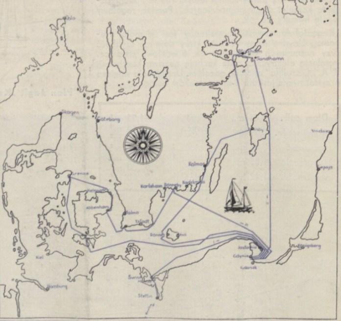 План подорожі по Скандинавії, 1937 р