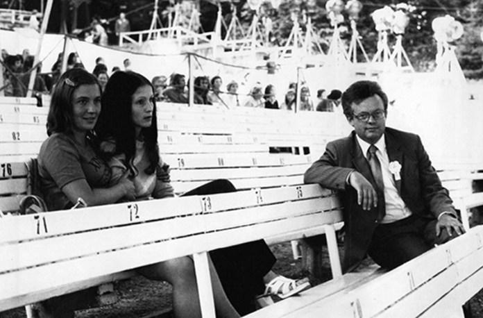 Галина Івасюк, Софія Ротару і Мирослав Скорик у залі Лісової опери. Сопот, 1974 рік