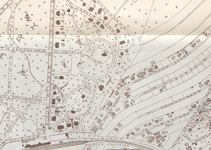 Карта Брюхович кінця ХІХ століття