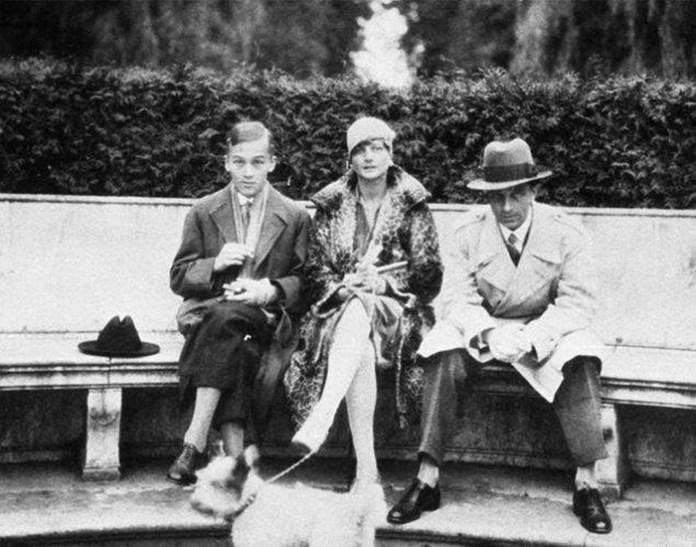Єжи Сосновський, Беніта фон Фалькенхайн і брат Сосновського Януш. Фото: jerzysosnowski.info