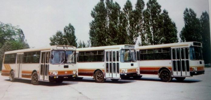 Автобуси ЛАЗ-4202, виготовлені у 1994 році заводом «Авіакон» в Конотопі