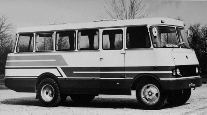 Прототип автобуса ТС-3965, виготовлений експериментальним цехом ВКЕІ «Автобуспром» у Львові. 1982 р.