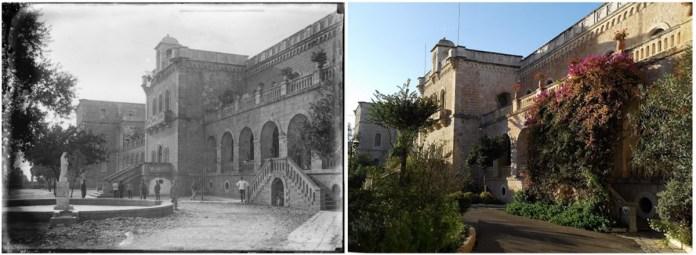Монастир Ратісбонне з австро-угорськими солдатами, а також його сучасний стан