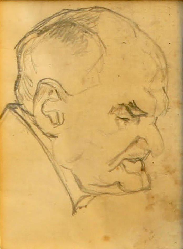 Олекса Новаківський. Начерк до портрета Мар'яна Панчишина, 1920-ті рр.