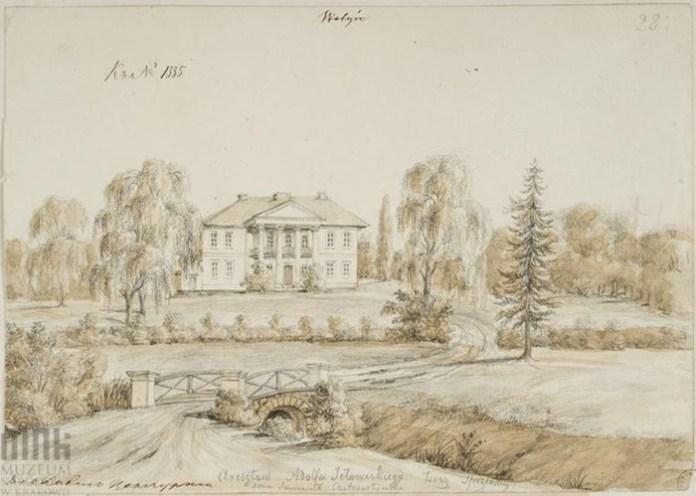 Урвенна (Здолбунівський район), палац Омецінських
