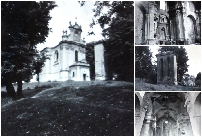 Костел Усіх Святих у селі Годовиця, 1977 р. Фото: В. Лащенко