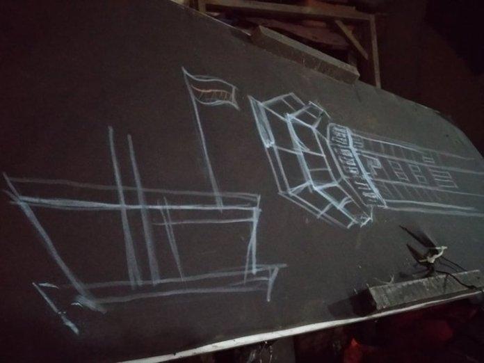 Проект копії вежі Донецького аеропорту, яку встановлять у львівському Парку культури