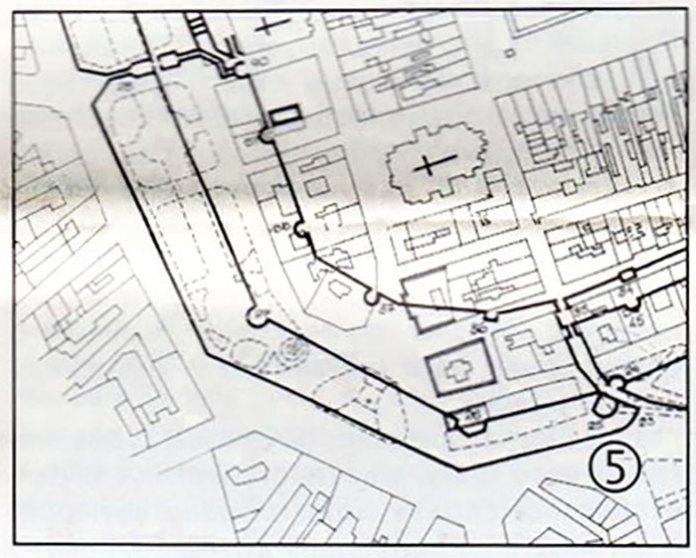 План забудови площі Міцкевича на місці старих оборонних укріплень міста