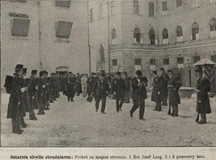 Віденський кат Йозеф Ланг та два його помічники, Nowości Illustrowane, 1909 рік