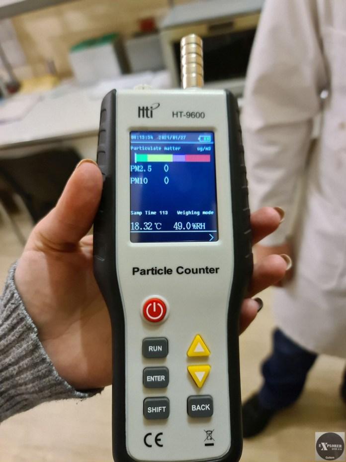 Пристрій для контролю мікрочастинок