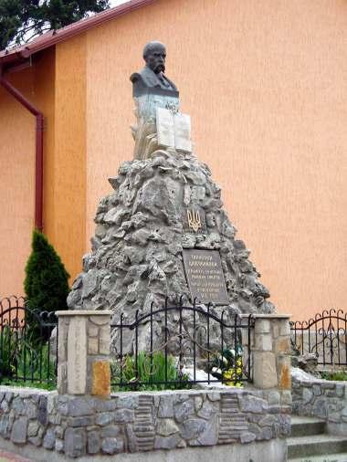 Пам'ятник Шевченкові в Лисиничах. Джерело: Вікіпедія.