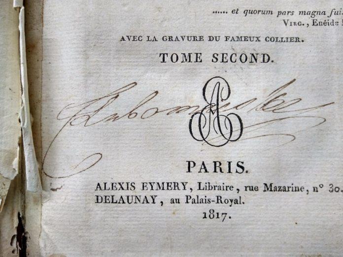 Автограф Людвики Любомирської (з Сосновських)