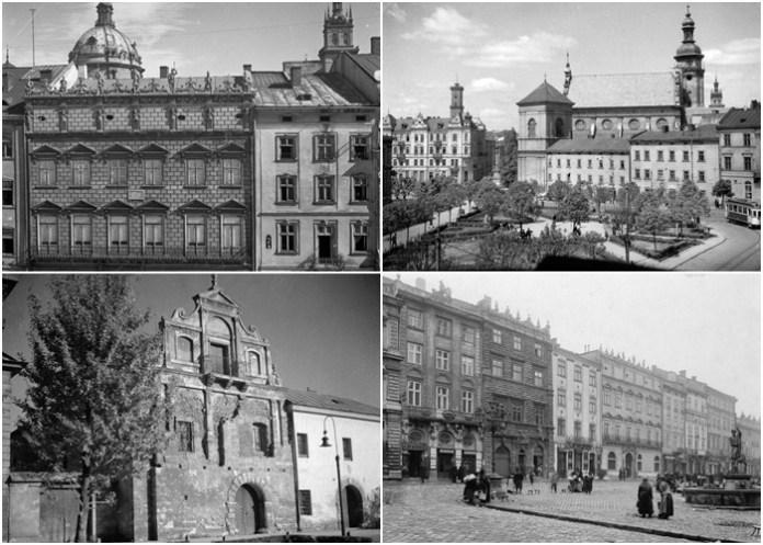 Львівські пам'ятки на ретро фото 1920-1930-х років