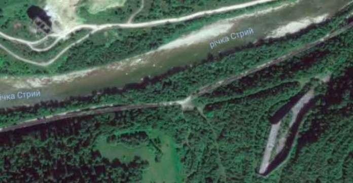 Дамба і Стрий на мапі