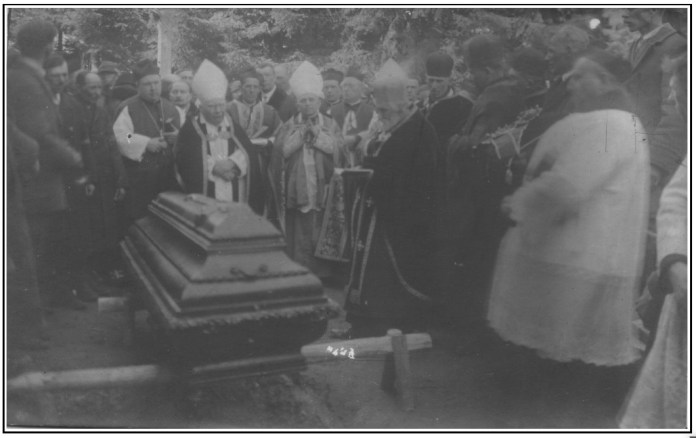 Похорон архієпископа Кароля Гриневецького в с. Козаки, 1929 р.