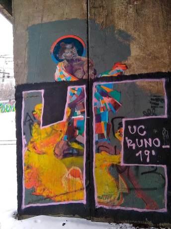 Малюнок під мостом на вул. Кульпарківській - стало. Автор світлин Ігор Осідач Бурлака
