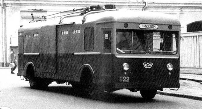 Експериментальний тролейвоз-фургон ТГ-1 виробництва Сокольницького вагоно- і автобусоремонтного заводу в Москві. 1960 р.