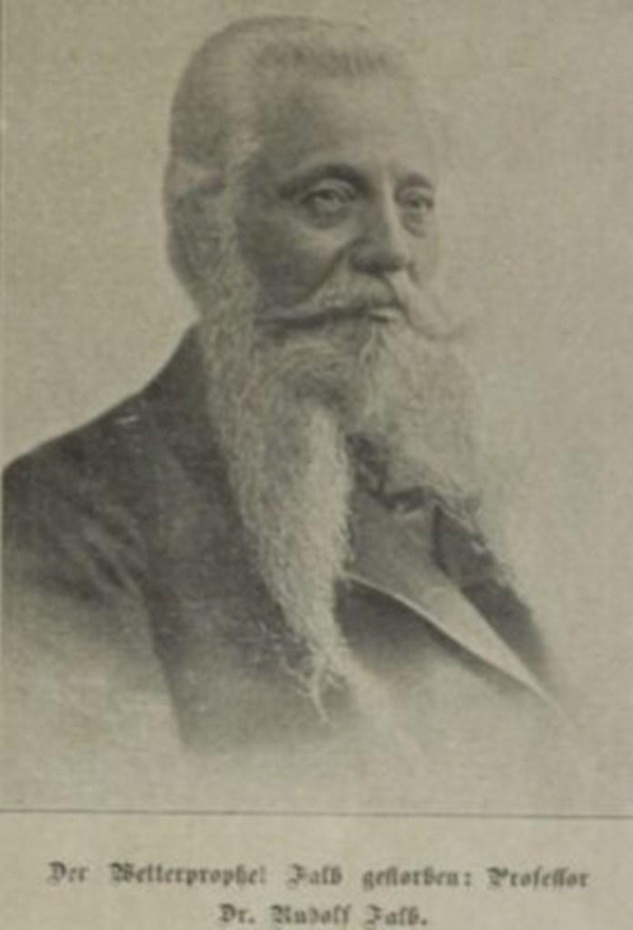 Німецький астроном Рудольф Фальб, який передбачав зіткнення з кометою, Das interessante Blatt, 1903 рік